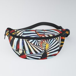 6805-LB Two Become as One Love Energy Abstraction Fanny Pack