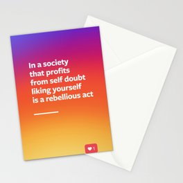 Liking Yourself Stationery Cards