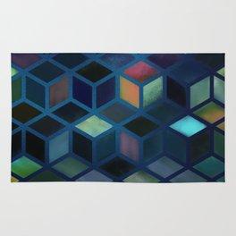 Pastel Boxes Blue Rug