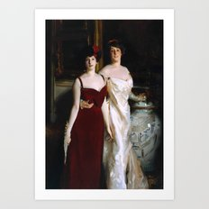 John Singer Sargent 1856–1925   Ena and Betty, Daughters of Asher and Mrs Wertheimer Art Print