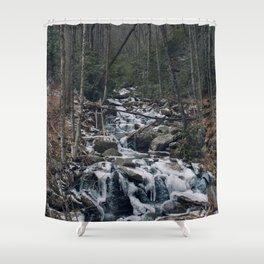 Frozen Stream From Mountain High Shower Curtain