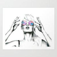 iggy azalea Art Prints featuring Iggy Azalea 2 by Tiffany Taimoorazy
