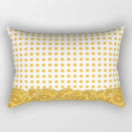 Orange polkadot wrap around with orange fruit slices Rectangular Pillow