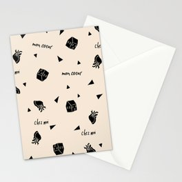 Chez moi, chocolate chip Stationery Cards