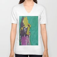 lip V-neck T-shirts featuring Lip Sync by Stephon Daniels