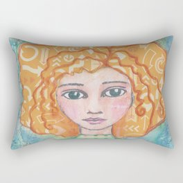My Mind Goes All Over the Place Rectangular Pillow