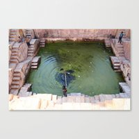 pool Canvas Prints featuring Pool by Avigur