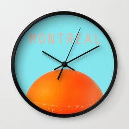 MONTREAL PASTEL Orange Julep Wall Clock
