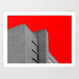 brutalist red Art Print