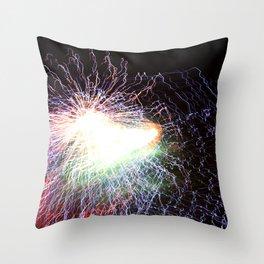 Electric night Throw Pillow