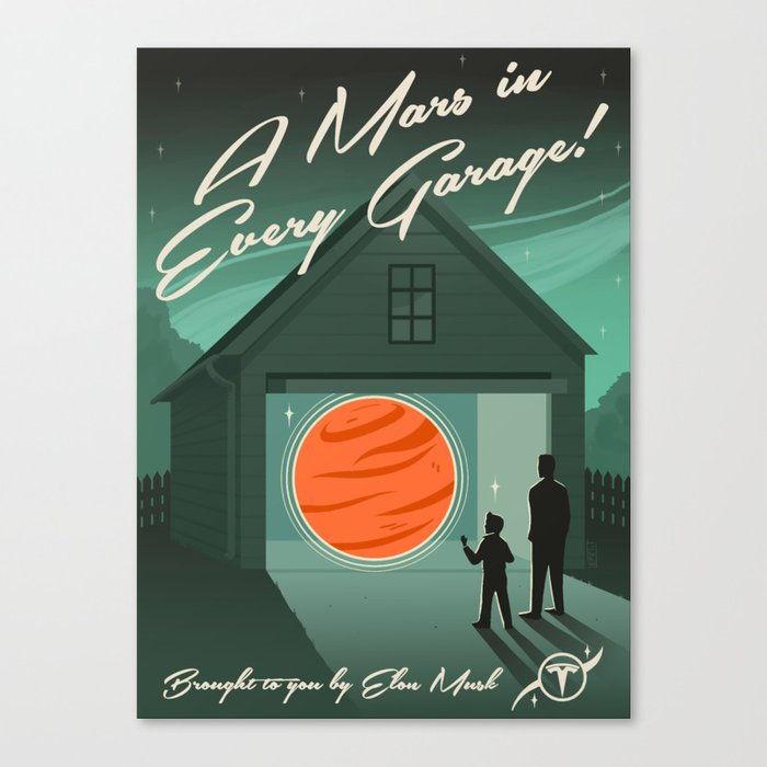 A Mars in Every Garage Canvas Print
