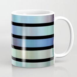 Stripes have the blues digital abstract  Coffee Mug