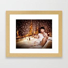 Bathroom Disaster Framed Art Print
