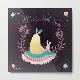 Alice In Wonderland. Metal Print