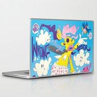 fear Laptop & iPad Skins featuring Fear by Matteo Cuccato - Strudelbrain