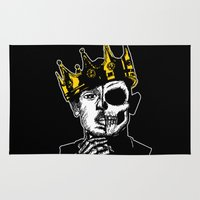 kendrick lamar Area & Throw Rugs featuring King Kendrick by zombieCraig by zombieCraig