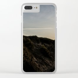 Grass dunes at night Clear iPhone Case