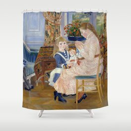 "Auguste Renoir ""L'après-midi des enfants à Wargemont (The childrens' afternoon at W.) Shower Curtain"