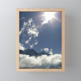 Clouds play over the Tyrolean Alps, color photo Framed Mini Art Print