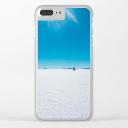 In the Distance, Salar de Uyuni, Bolivia Salt Flats Clear iPhone Case