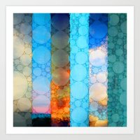 blues Art Prints featuring Blues by Olivia Joy StClaire