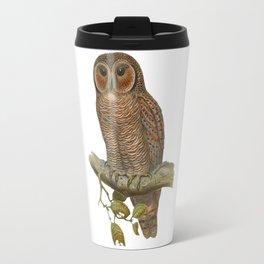 Lonely Owl Realistic Painting Travel Mug