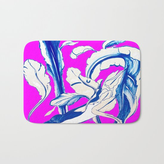 Plant in Blue Marker - Leaf of Life Miracle Leaf - FUCHSIA! Purple? Pink? Bath Mat