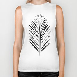 Black and White Redwood Leaf Biker Tank