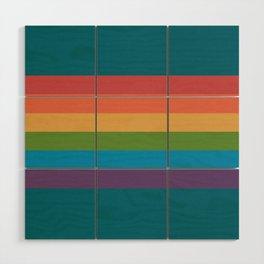 Indigo Rainbow Wood Wall Art