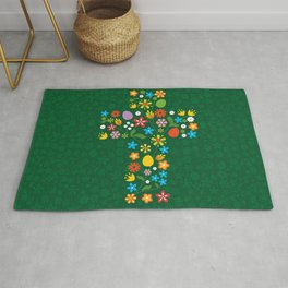 Easter cross Rug
