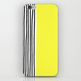 Stripes & Rays Of Sunshine Yellow iPhone Skin
