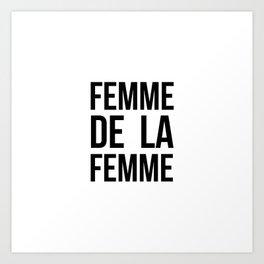 Femme De La Femme B&W Art Print