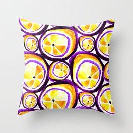 Sweet Plum Lemon Throw Pillow