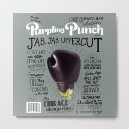 Purpling Punch Cover Metal Print