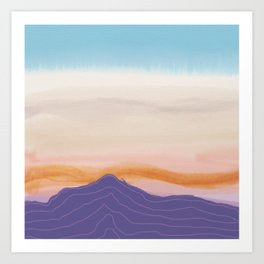 Mixed Media Sunset Art Print