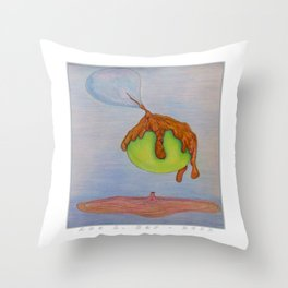 Don't Get Caught Up in That Funky Sh#t Going Down in the City Throw Pillow