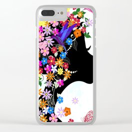 Peaceful Girl Clear iPhone Case