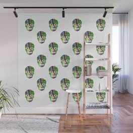 Grapevine Joy Skull pattern by Adam Cooley Wall Mural