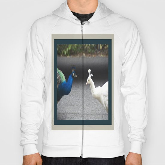 Mirror Image in Blue and White Hoody