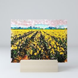 Golden Daffodil Field Mini Art Print