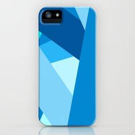 Retro Blue Mid-Century Minimalist Geometric Line Abstract Art iPhone Case