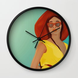 The Yellow Jumpsuit Wall Clock