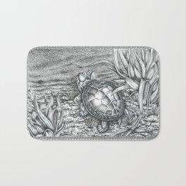 Turtle Drawing Bath Mat