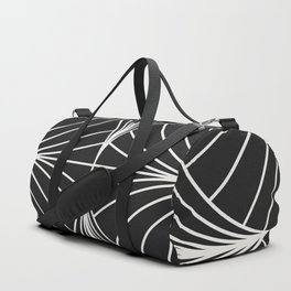Diamond Series Inter Wave White on Charcoal Duffle Bag