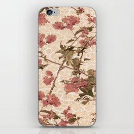 Textured Vintage Floral Motif iPhone Skin