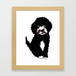 Milo the Labradoodle Puppy Framed Art Print