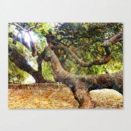 Tree Grunge 2 Canvas Print