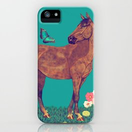 Spring time, love horses iPhone Case