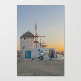 Mykonos Windmills by Pupina Canvas Print