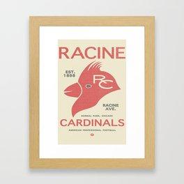 Racine Cardinals Framed Art Print